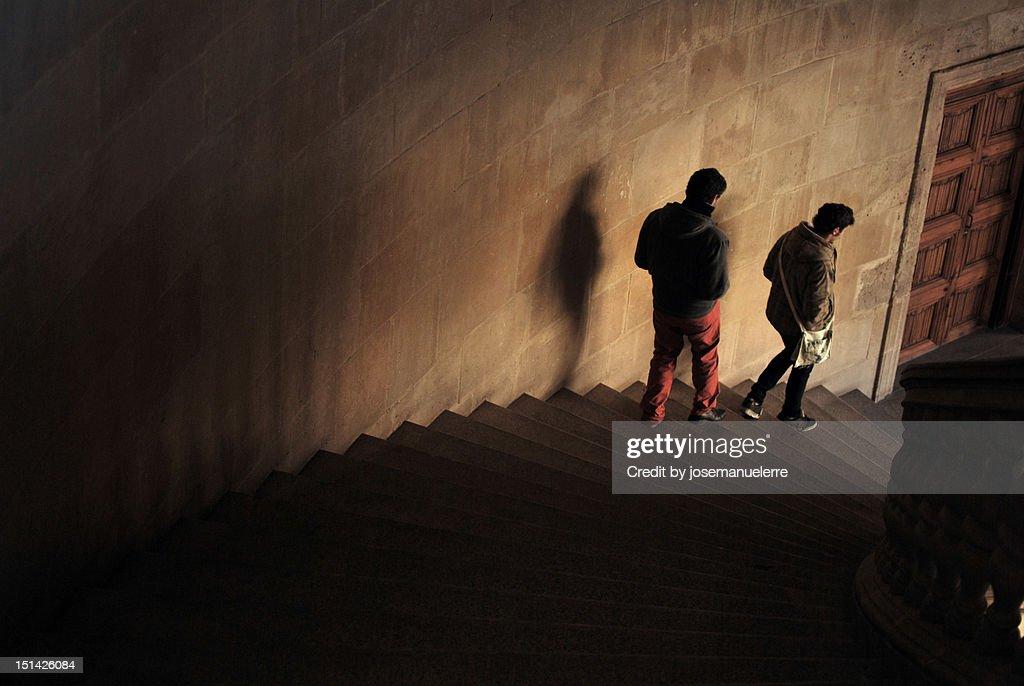 Moving away from dark : Stock Photo