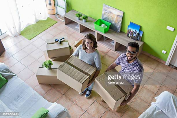 Moving boxes to their new home