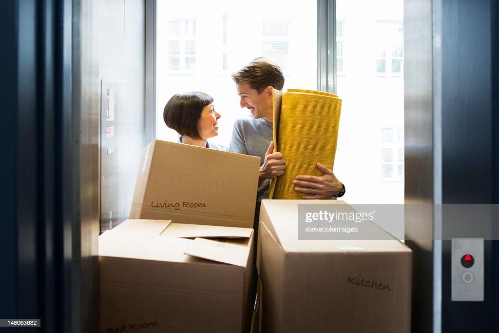 Moving Couple : Stock Photo