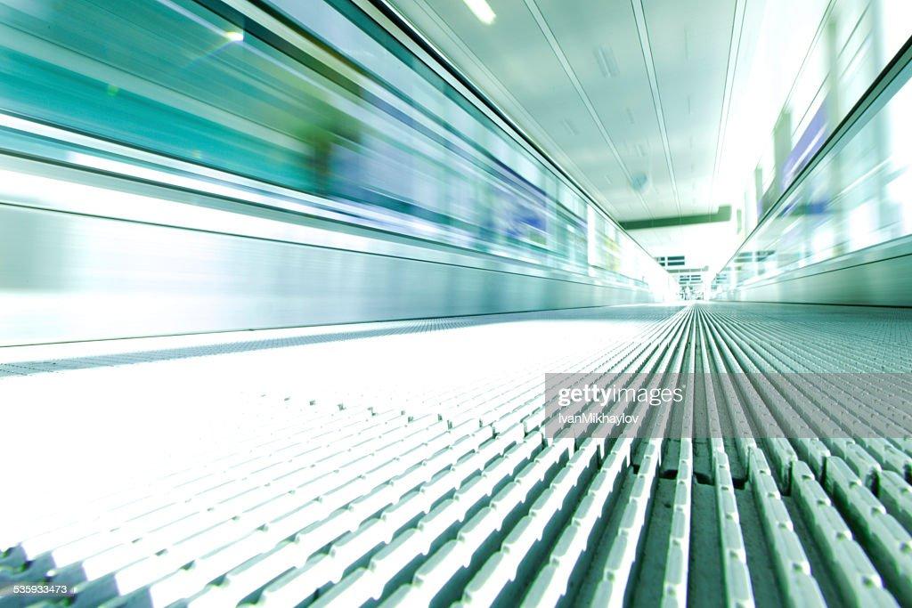 Moving escalator : Stock Photo