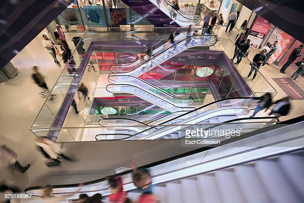 Moving escalators at Markthal mall in Rotterdam