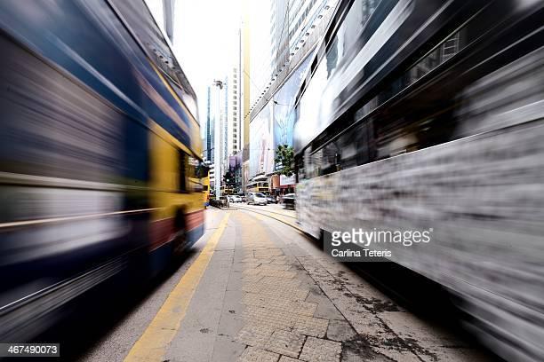 Moving Hong Kong Street Cars