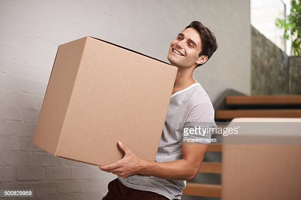 Moving house ist aufregend