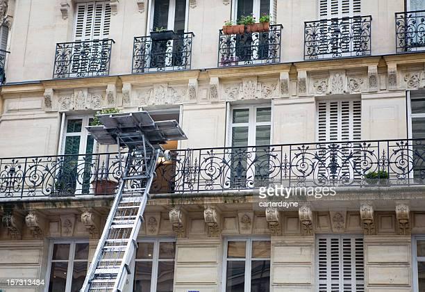 Déplacer du deuxième étage d'un appartement