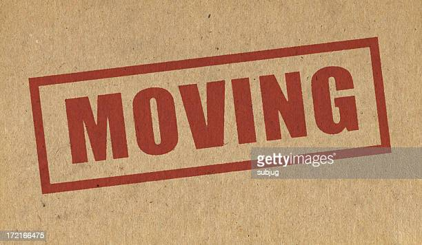 Moving sign on cardboard