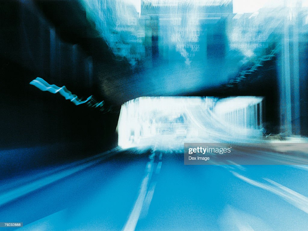 Moving through a tunnel, Tokyo Bay, Japan : Stock Photo