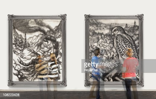 Spostamento attraverso Gallery : Stock Photo