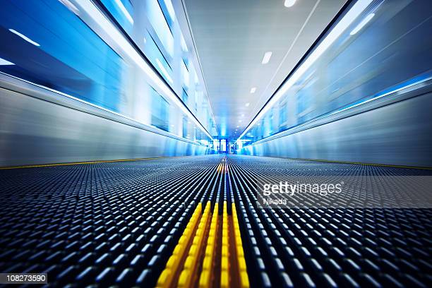 Moving walkway at the airport