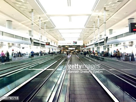 Moving Walkways In Airport