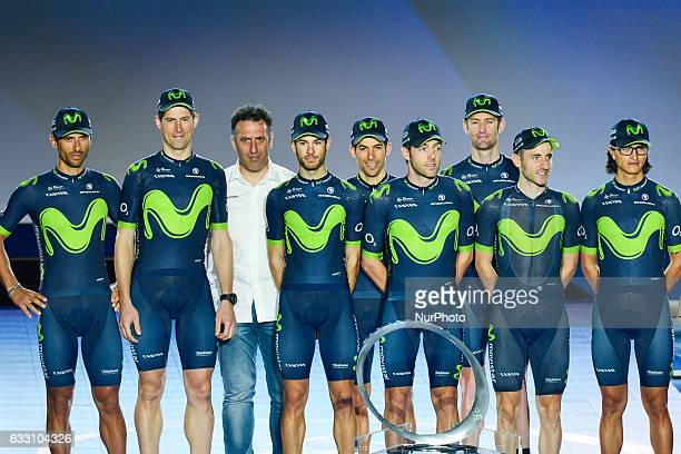 Movistar Team at the Official Opening Ceremony of the 2017 Dubai Tour at the outdoor amphitheatre in the Westin Dubai Mina Seyahi Beach Resort amp...
