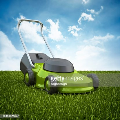 mower on the horizont : Stock Photo