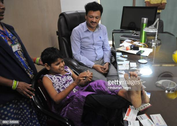 Mowgli girl brought to NGO Drishti Samajik Sansthan home on April 7 2017 in Lucknow India The girl possibly eight was found abandoned in Katarniaghat...