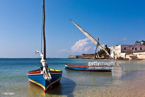 Mozambique Island, local wooden dhows.