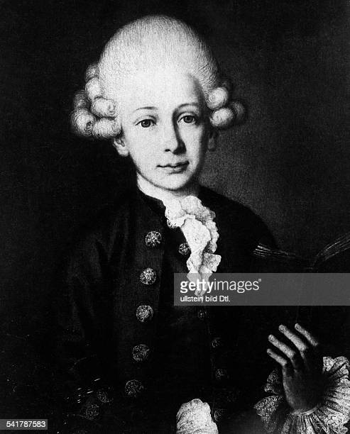 Mozart Wolfgang Amadeus Composer Austria*2701175605121791Portrait as a 12 years old boyafter a painting by Heinrich Wilhelm Tischbein Photographer...
