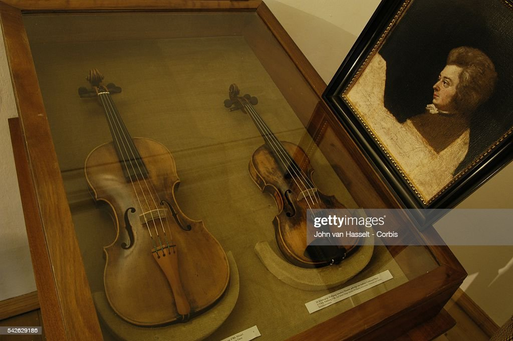 Mozart's concert violin was made by Agydeus Klotz in Mittelwald in1780 His child's violin was made in 1746 by Andreas Ferdinand Mayr in Salzburg Both...