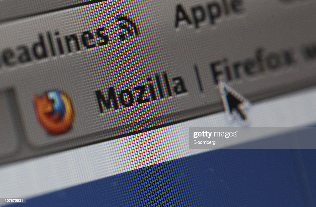 A Mozilla Corp.'s Firefox web browser tab is displayed on a computer monitor in London, U.K. on Wednesday, Jan. 5, 2011. Mozilla Corp.'s Firefox topped Microsoft Corp's Internet Explorer in Europe for the first time last month to become the region's most-used web browser. Photographer: Chris Ratcliffe/Bloomberg via Getty Images