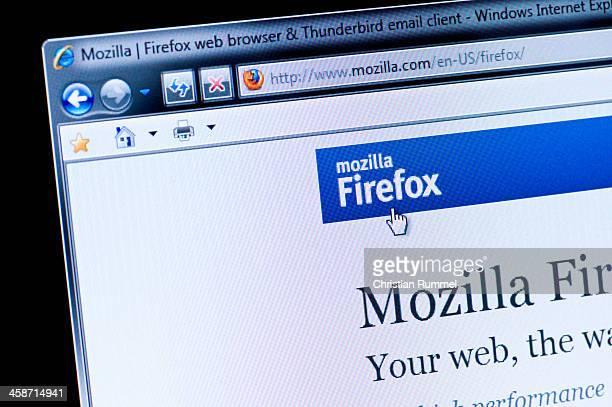Mozilla Firefox - Macro shot of real monitor screen
