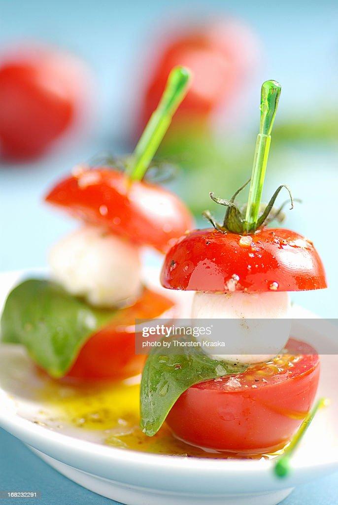 Mozzarella and tomatoes : Stock Photo