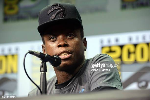 Mpho Koaho at Dirk Gently's Holistic Detective Agency BBC America Official Panel during ComicCon International 2017 at San Diego Convention Center on...