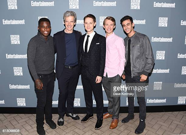 Mpho Koaho Peter Capaldi Samuel Barnett Greg Austin and Fady Elsayed attend EW Hosts An Evening With BBC America on October 6 2016 in New York City