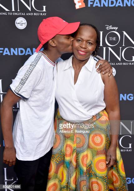 Mpho Manye and actor/singer Tshidi Manye at The Lion King SingAlong at The Greek Theatre in Los Angeles in celebration of the inhome release hosted...
