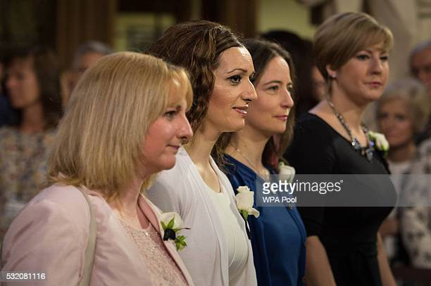 SNP MPs Lisa Cameron Tasmina AhmedSheikh Carol Monaghan and Hannah Bardell join MPs as they pass through the Central lobby of the House of Lords for...