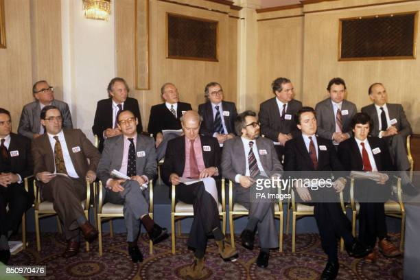 MPs supporting the Social Democratic Party attend a press launch in London Back row Tom Bradley Christopher BrocklebankFowler John Cartwright Jim...