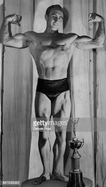 Mr America contest 1953 Ed Williams of 1343 S Steele St is 'Mr Colorado of 1954' as a result of Saturday night's contest held at city auditorium as a...