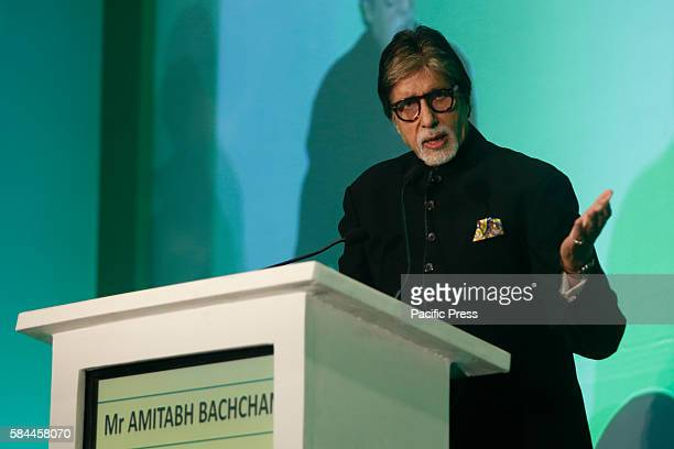 Mr Amitabh Bachchan addresses the attendees of World Hepatitis Day event held at the JW Mariott in Mumbai