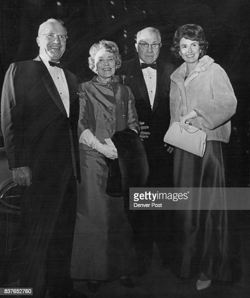 Mr and Mrs Braxton Ross left and the Harold Silvers arrive for concert at the Auditorium Theatre The orchestra will join with the Metropolitan Civic...