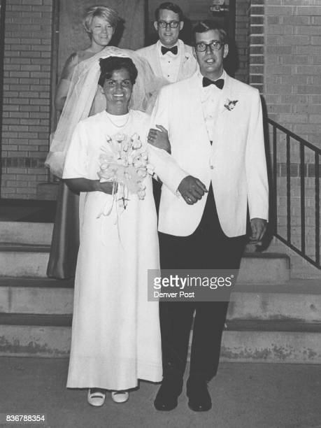 Mr and Mrs David V S Knowles Newlyweds leave St Michael and All Angels Episcopal Church for reception after Friday evening ceremony Mrs Knowles is...