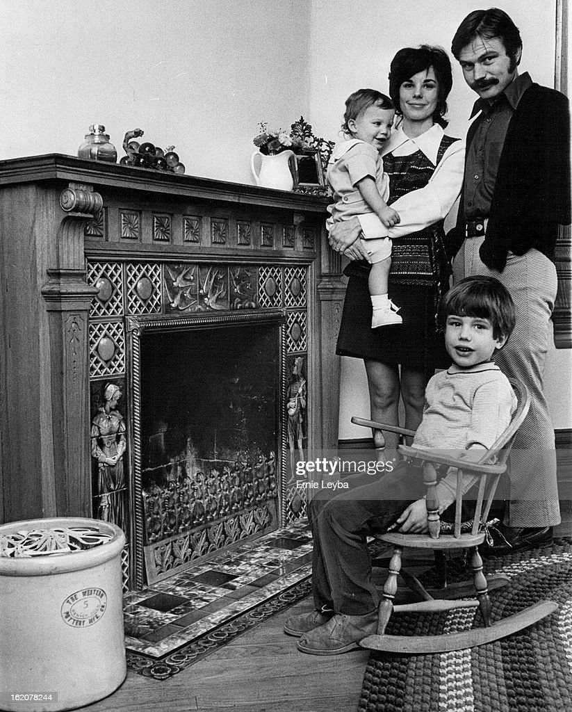 nov 20 1971 nov 28 1971 mr and mrs dennis masel at fireplace