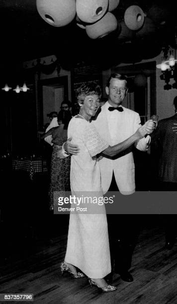 """Mr and Mrs Donald Peterson were summer partygoers at opera ball after opening night performance of """"The Mikado"""" at Central City Credit Denver Post"""