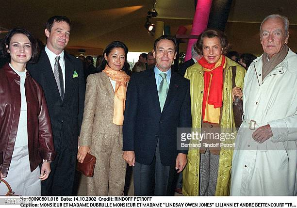 Mr and Mrs Dubrulle Mr and Mrs 'Lindsay Owen Jones' Liliane and Andre Bettencourt Lancome trophy of St Nom La Bretech in 2002