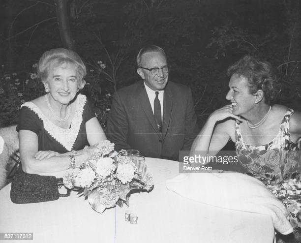 Mr and Mrs George Hayden above were guests at one of Miss Eleanore Weckbaugh's parties in the gardens of her East Cedar Avenue home Credit Denver Post
