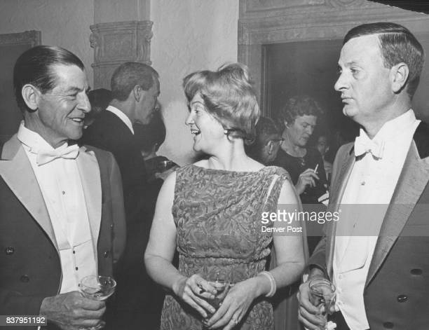 Mr and Mrs Groos Give Party in Polo Grounds Gen Gordon Rogers left chats with Mr and Mrs Carl Groos Jr during Friday night party they gave at the...