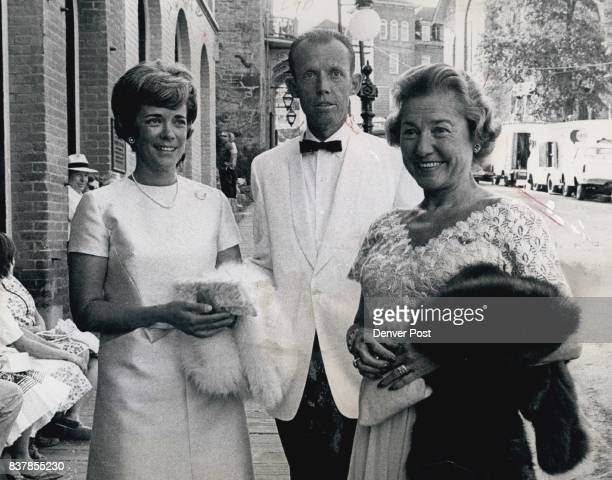 Mr And Mrs Harry Buchenau And Mrs Gerald Hughes Phipps Chat The trio met in front of the Central City Opera House before the performance Credit The...