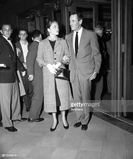Mr and Mrs Henry Fonda the former Susan Blanchard