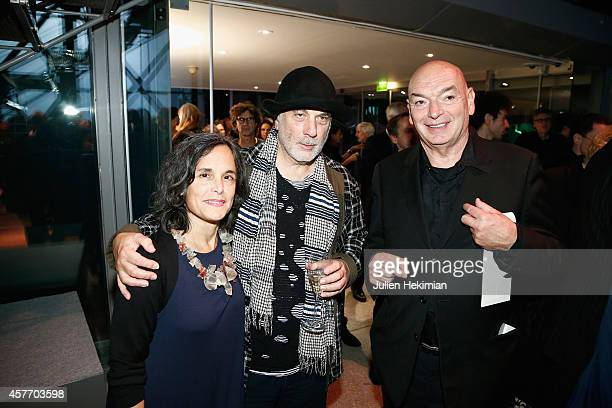 Mr and Mrs Ron Arad and Jean Nouvel attend the 'Fondation Cartier Pour L'Art Contemporain' 30th Anniversary at Fondation Cartier on October 20 2014...