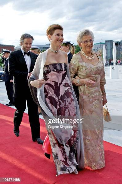 Mr Ari Behn Princess Martha Louise of Norway and Princess Astrid of Norway arrive at the National Opera House on June 2 2010 in Oslo Norway