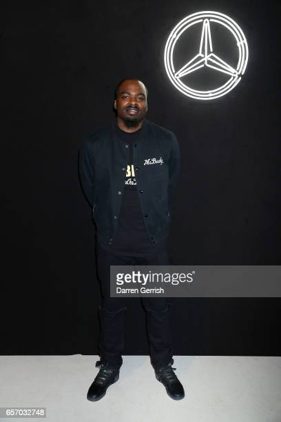 Mr Beckz attends the MercedesBenz #MBCOLLECTIVE Chapter 1 launch party with M I A and Tommy Genesis on March 23 2017 in London United Kingdom