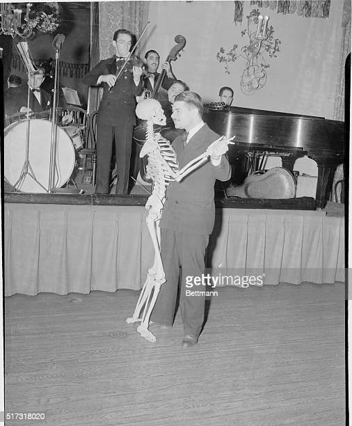 Mr Bones Goes Out on the dance Floor Philadelphia Pennsylvania The song had it that it was all right to 'take off your skin and dance in your bones'...