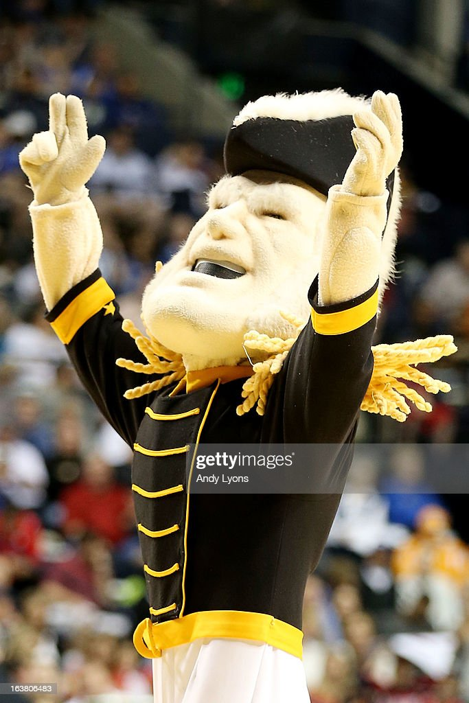 Mr. C, the mascot for the Vanderbilt Commodores, performs during the game against the Ole Miss Rebels in the first half during the Semifinals of the SEC basketball tournament at Bridgestone Arena on March 16, 2013 in Nashville, Tennessee.