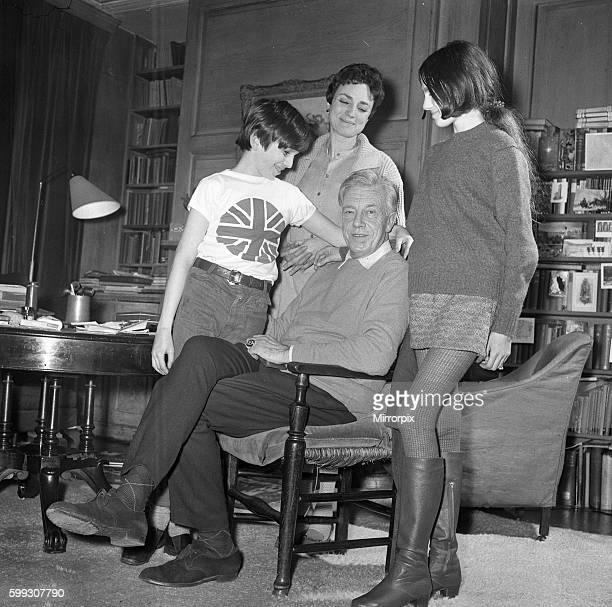 Mr Cecil DayLewis is named as the Poet Laureate OPS him at his home with his wife actress Jill Balcon and daughter Tamsin 14 and son Daniel 10 Y17...