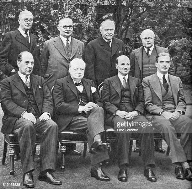 Mr Churchill's War Cabinet in the Spirng of 1941' 1941 Back row from left to right Mr Arthur Greenwood Mr Ernest Bevin Minister of Labour Lord...