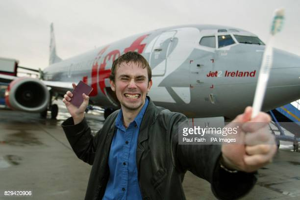 Mr Crazy Horse Invincible with passport and toothbrush at Belfast international airport A budget airline thought it was the victim of a prank when Mr...