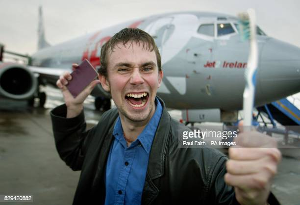 Mr Crazy Horse Invincible with passport and toothbrushat Belfast international airport A budget airline thought it was the victim of a prank when Mr...