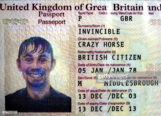 Mr Crazy Horse Invincible's passport at Belfast international airport A budget airline thought it was the victim of a prank when Mr Crazy Horse...