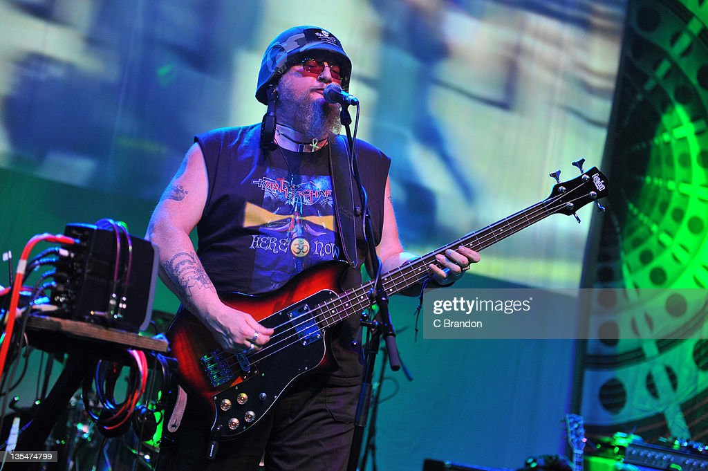 Mr Dibs of Hawkwind performs on stage at Shepherds Bush Empire on December 10, 2011 in London, England.