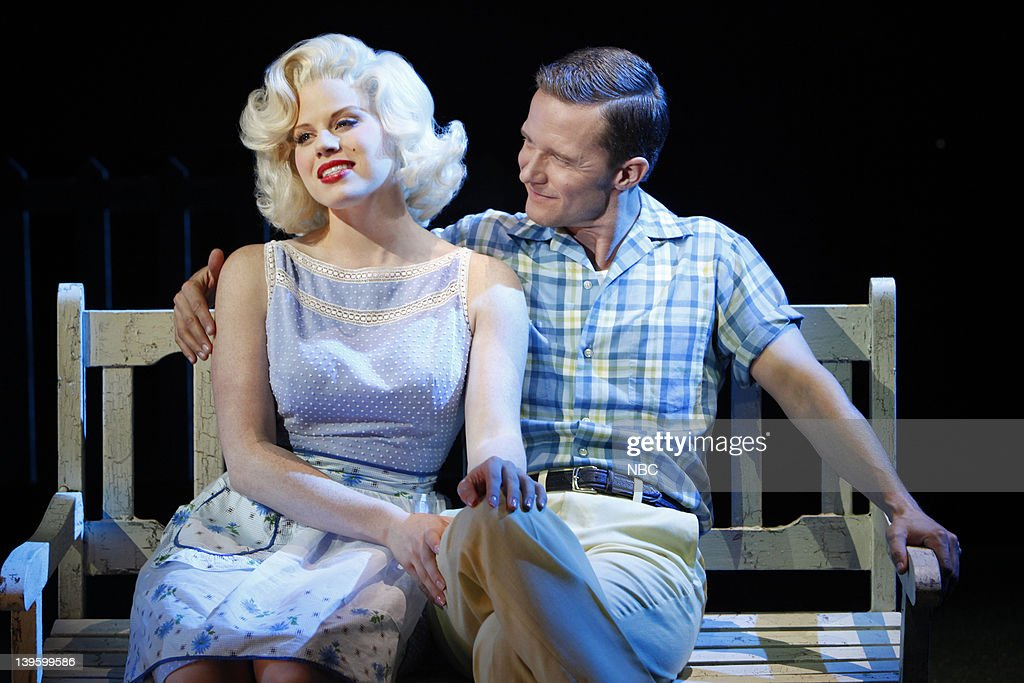 SMASH 'Mr DiMaggio' Episode 103 Pictured Megan Hilty as Ivy Lynn and Will Chase as Michael Swift